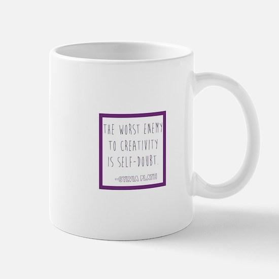 Sylvia Plath- self doubt Mugs