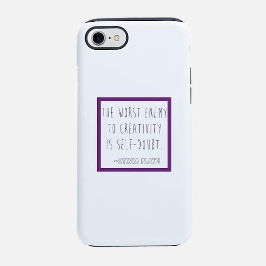 Sylvia Plath- self doubt iPhone 7 Tough Case