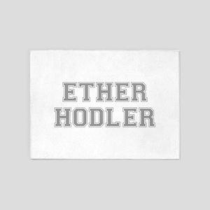ether hodler fresh gray 5'x7'Area Rug