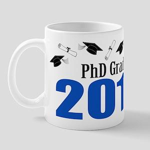 PhD Grad 2011 (Blue Caps And Diplomas) Mug