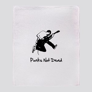 Punks Not Dead Throw Blanket