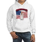 Space Shuttle and Flag Hooded Sweatshirt