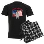 Space Shuttle and Flag Men's Dark Pajamas
