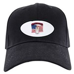 Space Shuttle and Flag Black Cap