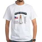 Space Shuttle History White T-Shirt