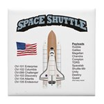 Space Shuttle History Tile Coaster