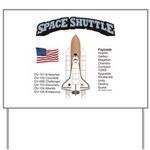 Space Shuttle History Yard Sign