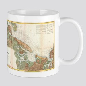Vintage Map of Ipswich and Annisquam Harbor ( Mugs