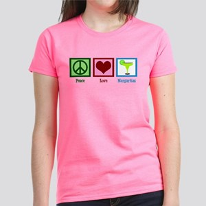 Peace Love Margaritas Women's Dark T-Shirt