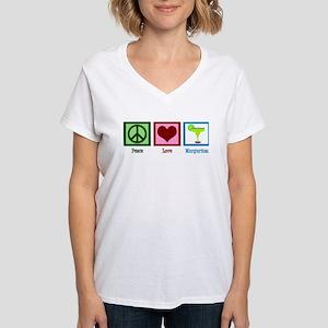 Peace Love Margaritas Women's V-Neck T-Shirt