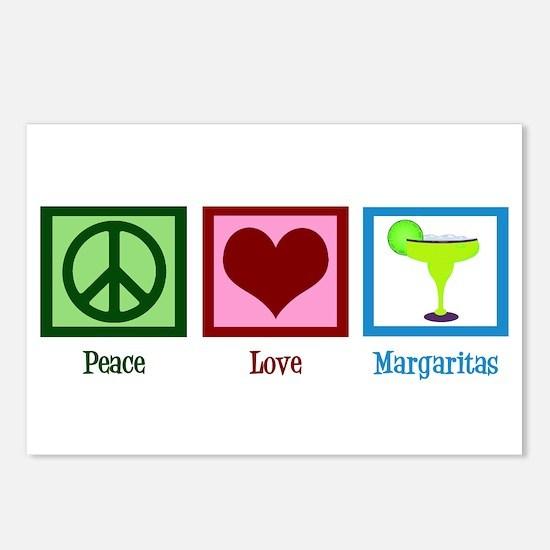Peace Love Margaritas Postcards (Package of 8)