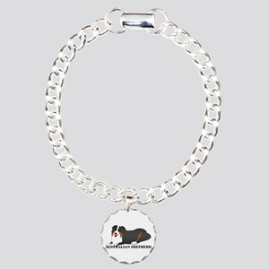 Australian Shepherd Dog Charm Bracelet, One Charm