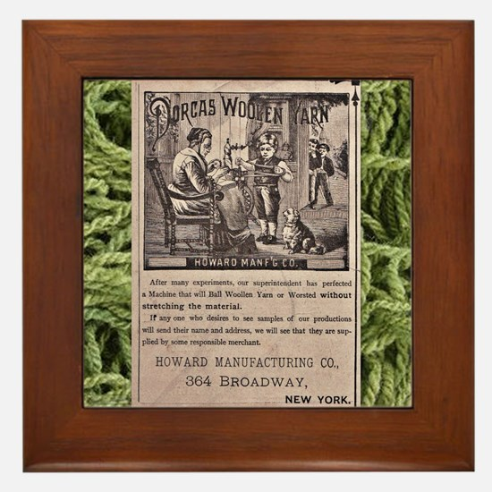Victorian Woolen Yarn Ad Framed Tile