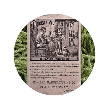 """Victorian Woolen Yarn Ad 3.5"""" Button (100 pack)"""