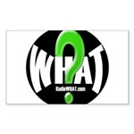 Radio WHAT Sticker (Rectangle)