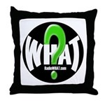 Radio WHAT Throw Pillow