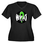 Radio WHAT Women's Plus Size V-Neck Dark T-Shirt