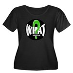 Radio WHAT Women's Plus Size Scoop Neck Dark T-Shi