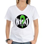 Radio WHAT Women's V-Neck T-Shirt