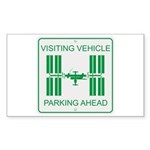 Visiting Vehicle Sticker (Rectangle 50 pk)