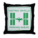 Visiting Vehicle Throw Pillow