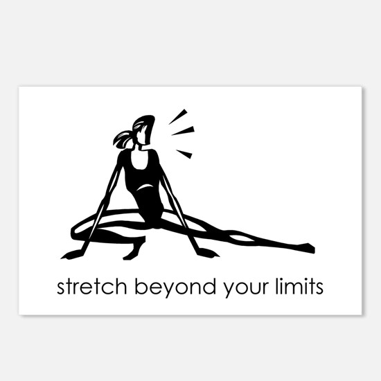 stretch beyond your limits Postcards (Package of 8