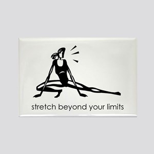 stretch beyond your limits Rectangle Magnet
