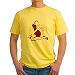 COOL GIRL POP ART Yellow T-Shirt