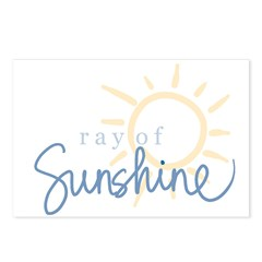 Ray of Sunshine (blue) Postcards (Package of 8)