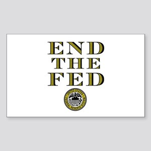 End the Fed Occupy Wall Street Protests Sticker (R