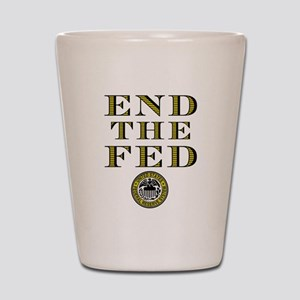 End the Fed Occupy Wall Street Protests Shot Glass
