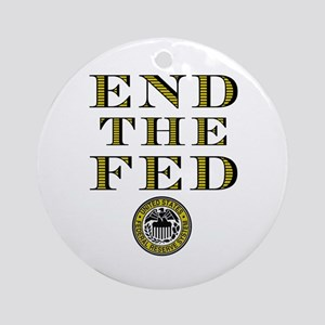 End the Fed Occupy Wall Street Protests Ornament (
