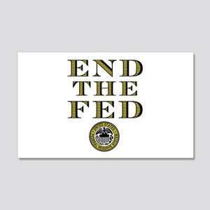 End the Fed Occupy Wall Street Protests 22x14 Wall
