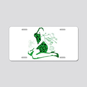 COOL GIRL POP ART Aluminum License Plate