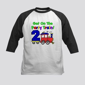 Party Train Two Year Old Kids Baseball Jersey