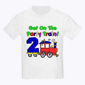 Party Train Two Year Old Kids Light T-Shirt