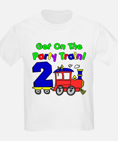 Party Train Two Year Old T-Shirt