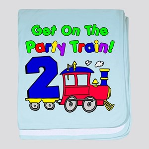 Party Train Two Year Old baby blanket
