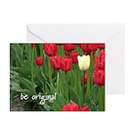 Be original (tulips) Greeting Cards (Pk of 10)