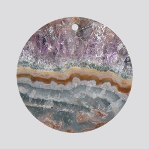 Amethyst Crystals Ornament (Round)