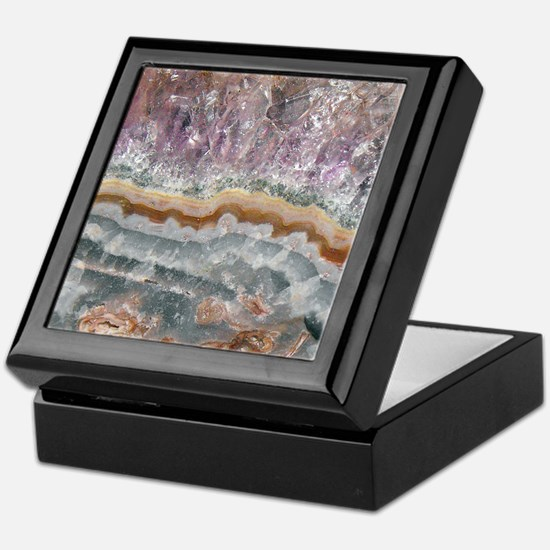 Amethyst Crystals Keepsake Box