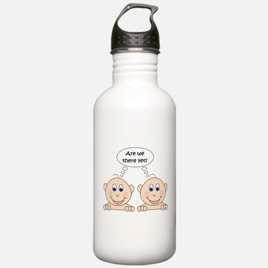Are we there yet? Twins Water Bottle
