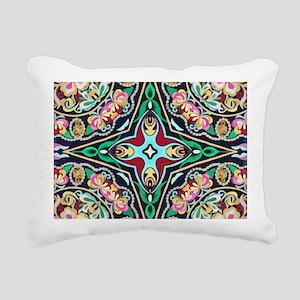 mexican embroidery flora Rectangular Canvas Pillow