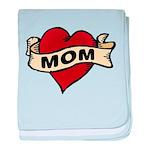 Mom heart tattoo baby blanket