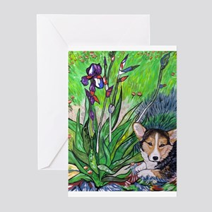 A corgi rests in Spring Greeting Cards (Pk of 10)