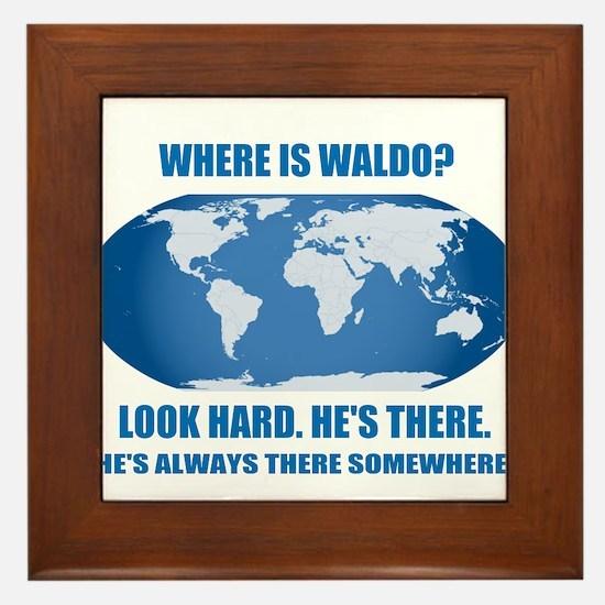 Where's Waldo Framed Tile