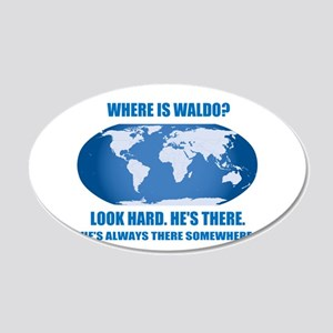 Where's Waldo 22x14 Oval Wall Peel