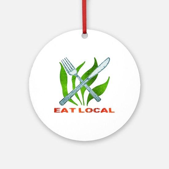 Eat Local Ornament (Round)