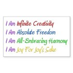 What I Really Am Sticker (Rectangle 10 pk)