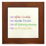 What I Really Am Framed Tile